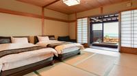 【和室12畳*ベッドタイプ/2〜3名様】禁煙◆温泉露天風呂付