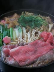 【国産黒毛和牛モモ肉】すきやきプラン
