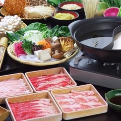 【4/14〜11/25】しゃぶしゃぶ食べ放題プラン◆やまと豚や若姫牛肩ロースも◆選べるスープ付