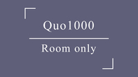QUOカード1000プラン□素泊り□