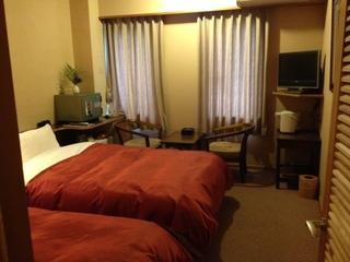 大きなベッドで快眠を★城跡側 ツインルーム(喫煙可消臭対応)