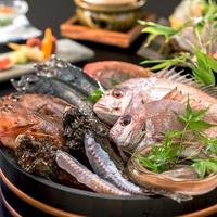 【お料理グレードUP-瀬戸内めぐり】基本会席に『4種から選べる瀬戸内高級魚』を。『調理法』もお好みで