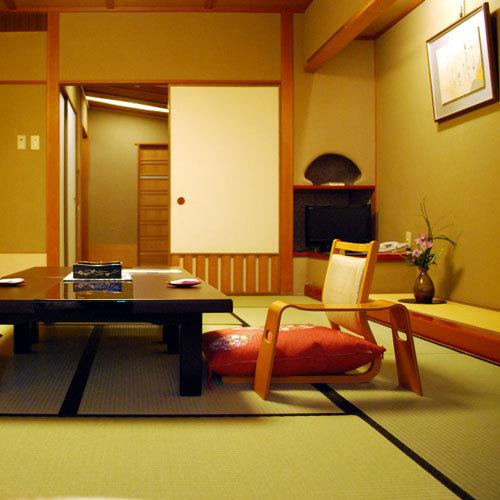 温泉に入って和室で泊る