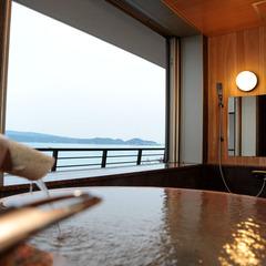 海が見える温泉付和洋室☆個室食事処専用【禁煙】お部屋に温泉♪