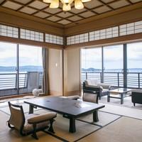 「汐見亭特別室」〜和室12畳+洋室パノラマオーシャンビュー