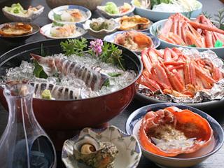 【漁師町香住で海幸を満喫♪】大人気☆岩ガキとノドグロ一夜干しと朝取れ白イカと焼かにプラン♪