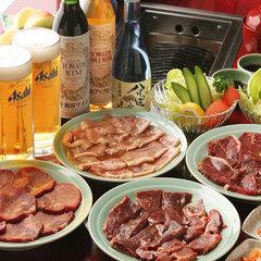 【スタミナ満点】ミックス焼肉プラン☆生ビール付♪