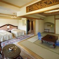 【禁煙】新館和洋室(12帖和室+ベッド2台)