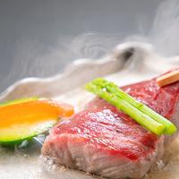 【華やぎ会席<竹>】 陶板でじっくり焼きあがる『料理長厳選・国産牛』を楽しむ、牛堪能プラン
