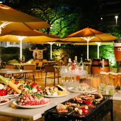【満喫♪BBQ】テラスでバーベキュー&ビールなど10種類から選べるフリードリンク!(夕食のみ)