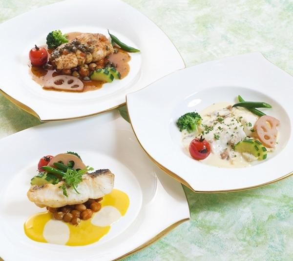 和食と洋食が一緒に味わえるグルメ!メインのお魚料理【舌平目・スズキ・白身魚】が選べる和洋食♪