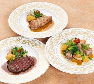 和食と洋食が一緒に味わえる♪メインのお肉料理【特選牛・甘とろ豚・媛っこ地鶏】が選べる和洋食