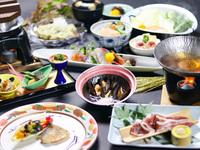 【秋のオススメ味覚会席】「鴨鍋」「ムール貝酒蒸し」「甘鯛のポワレ」そして「松茸釜飯」