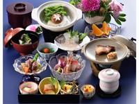 1泊2食プラン(日本料理)。ご夕食にお手頃価格の和会席をセットいたしました。