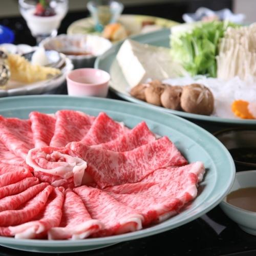 御苑自慢のブランド牛「神戸ビーフ」をたっぷりとご堪能〜神戸牛しゃぶしゃぶ鍋プラン