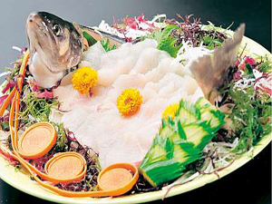 【秋田名産食べ比べ②】岩魚姿造り+豚しゃぶ