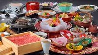 【春夏旅セール】【至福の食べ比べ】活アワビ陶板焼き&山形牛温泉蒸しグルメプラン