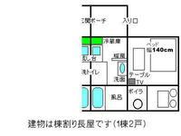 禁煙1ルーム1ベッド 追加可能な布団数は条件で変動0組〜4組