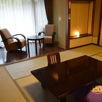 【禁煙】内風呂(檜または洋バス)付客室 和室10畳+2畳