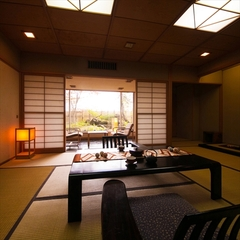 鶴の間(和室)(2間/21畳・檜風呂・Wi-Fi無料)