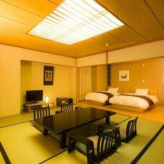 東館和洋室(8畳+ツインベッド)【禁煙】