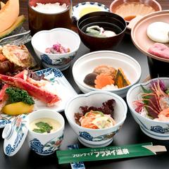 【美食上膳コース】少し贅沢に♪カニ皿・デザート付【禁煙】