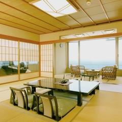 ◆日本海を一望◆特別室 12畳+ツインベッド 展望檜風呂付
