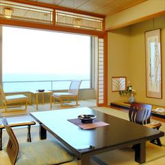 ◆オーシャンビュー 日本海を一望!◆海側 和室 10畳
