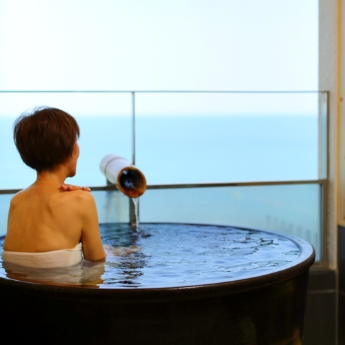 【2食付】露天風呂付客室で青島温泉堪能!食事おまかせ楽ちんプラン★