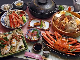 【越前ガニ松コース★+゜】タグ付越前ガニを食べよう!焼きがに&カニ刺しをお楽しみ♪♪