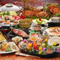 【流石コース】 豪華金盆刺身盛り・ズワイガニや牛しゃぶ・煮魚などを食べ尽くすコース