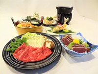 """◆12月先行予約◆和会席を特別グレードアップ!""""麦酒牛すき焼き""""付"""