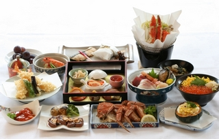 【さらに贅沢に】かえでプラン 地元食材使用の贅沢夕食