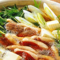 【冬グルメ◆かも鍋】ご当地特産岩津ネギと合鴨のベストマッチ!