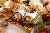 今が旬ですよ〜【夏得】なつとく岩牡蠣付き海鮮盛り焼と但馬牛しゃぶしゃぶ