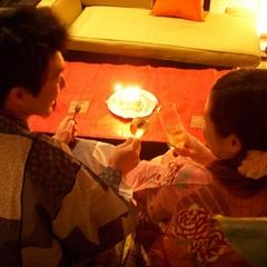 ■記念日プラン【2人だけでまったりお祝い】デコハートケーキ&特製カクテル付!