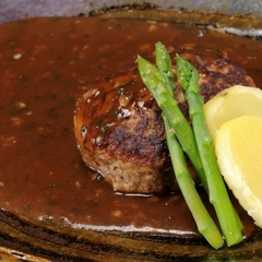 ■ワイルドな肉食系男子の彼に!【たくさん食べる彼が好き♪】黒毛和牛の溶岩焼と神戸牛バーグを堪能プラン