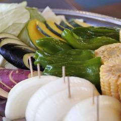 【溶岩焼BBQ】当館のスタンダードプラン★自然の中で食べると美味しいね♪春〜秋限定