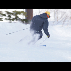 目の前にはハチ北スキー場のリフト乗り場★リフト券1日券付スキープラン!【お先でスノ。】
