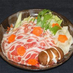 【猪豚しゃぶしゃぶを堪能!】山菜や川魚、名物料理を堪能&滝を望む絶景かけ流し露天風呂で癒し旅