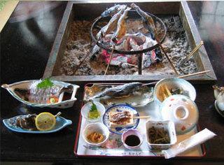 今が旬です!山の幸 熊鍋・岩魚・山菜料理フルコース!