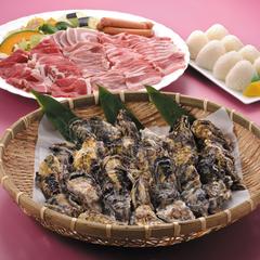 【夕食付】冬のあったか特別コース★焼き牡蠣&焼き肉の美味しいコラボ!