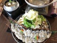 (2018冬)【1泊2食付】シェフオリジナル仕立て味噌風味カキ土手鍋をレトロな牡蠣小屋で食す!