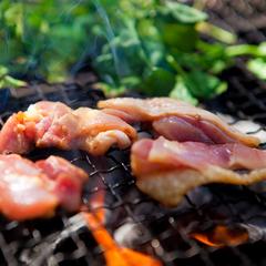 【4〜9月限定】ぷりっぷり☆旨味あふれる地鶏と夏野菜のハーモニー♪テラスでワイワイ地鶏BBQプラン
