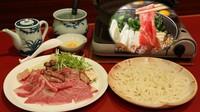 【常陸牛】夕食はすき焼きで至福の一時【〆はうどん】
