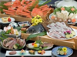 さき楽30【早期割30】【かにふぐ極みコース】★<蟹とふぐを食す!満喫双味プラン♪>★