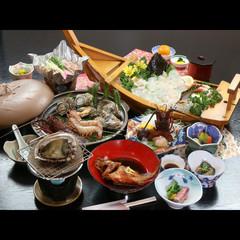 【志摩の宴】旦那オススメ!鮮度抜群の魚介を味わえる大満足なデラックス会席[1泊2食付]