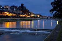 【カジュアル京都】夏はテラス席が最高!夜景を眺めながら夕食を=先斗町・串エ門「Aコース」=
