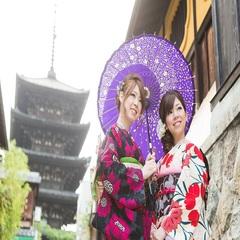 【京都満喫きもの旅】=着物で京都散策=「京都祇園屋」レンタル着物付きプラン