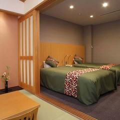 【温泉展望風呂付和洋室】ツイン+8畳(トイレ付)和洋室